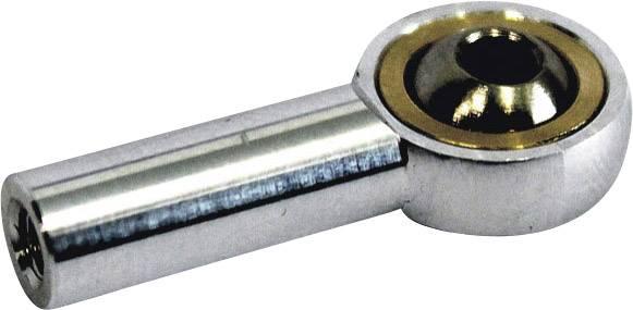 Kĺbová hlava Modelcraft 11478, M4, 4 mm, 4 ks, hliník