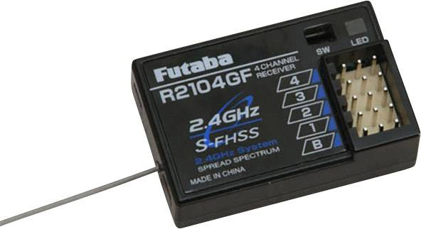 Přijímač Futaba F0996, 2,4 GHz FHSS, 4 kanály, Futaba