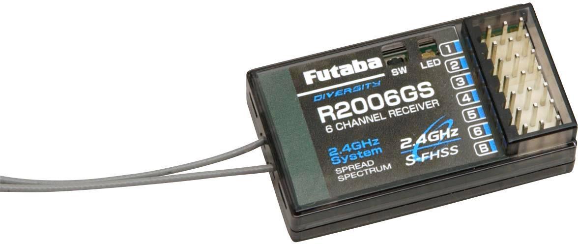Přijímač Futaba R2006GS, 2,4 GHz FHSS, 6 kanálů, Futaba