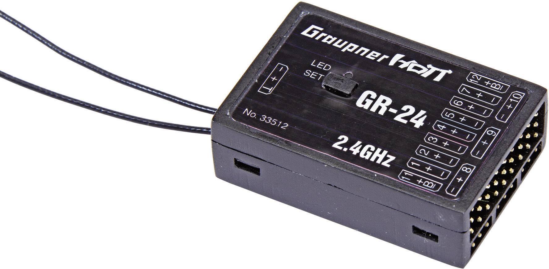 Přijímač Graupner GR-24 HoTT, 2,4 GHz FHSS, 12 kanálů, JR