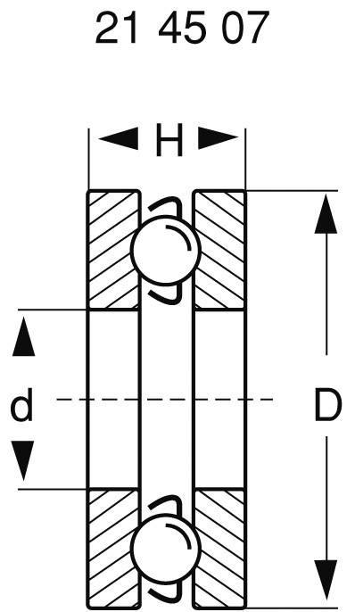 Axiální kuličkové ložisko Modelcraft, 12 x 5 x 4 mm