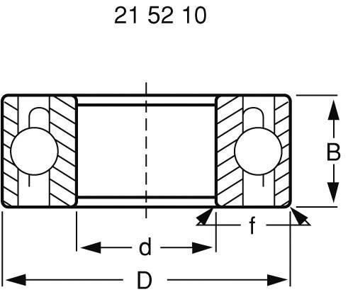 Radiální kuličkové ložisko Modelcraft chromové Modelcraft, 6 x 19 x 6 mm