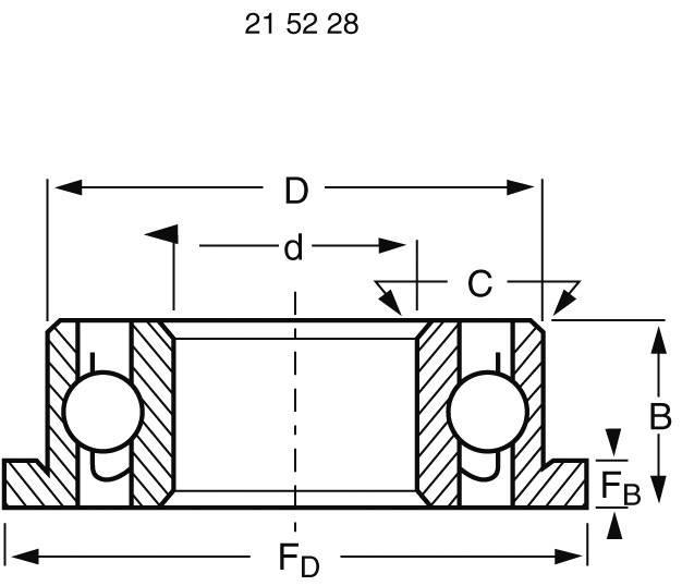 Radiální kuličkové ložisko Modelcraft nerezové Modelcraft, 10 x 19 x 7 mm