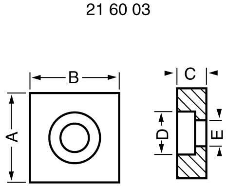 Příruba ložiska Modelcraft, 22 cm