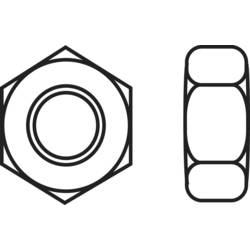Šesťhranné matice TOOLCRAFT 216364, M2, N/A, mosaz, 20 ks