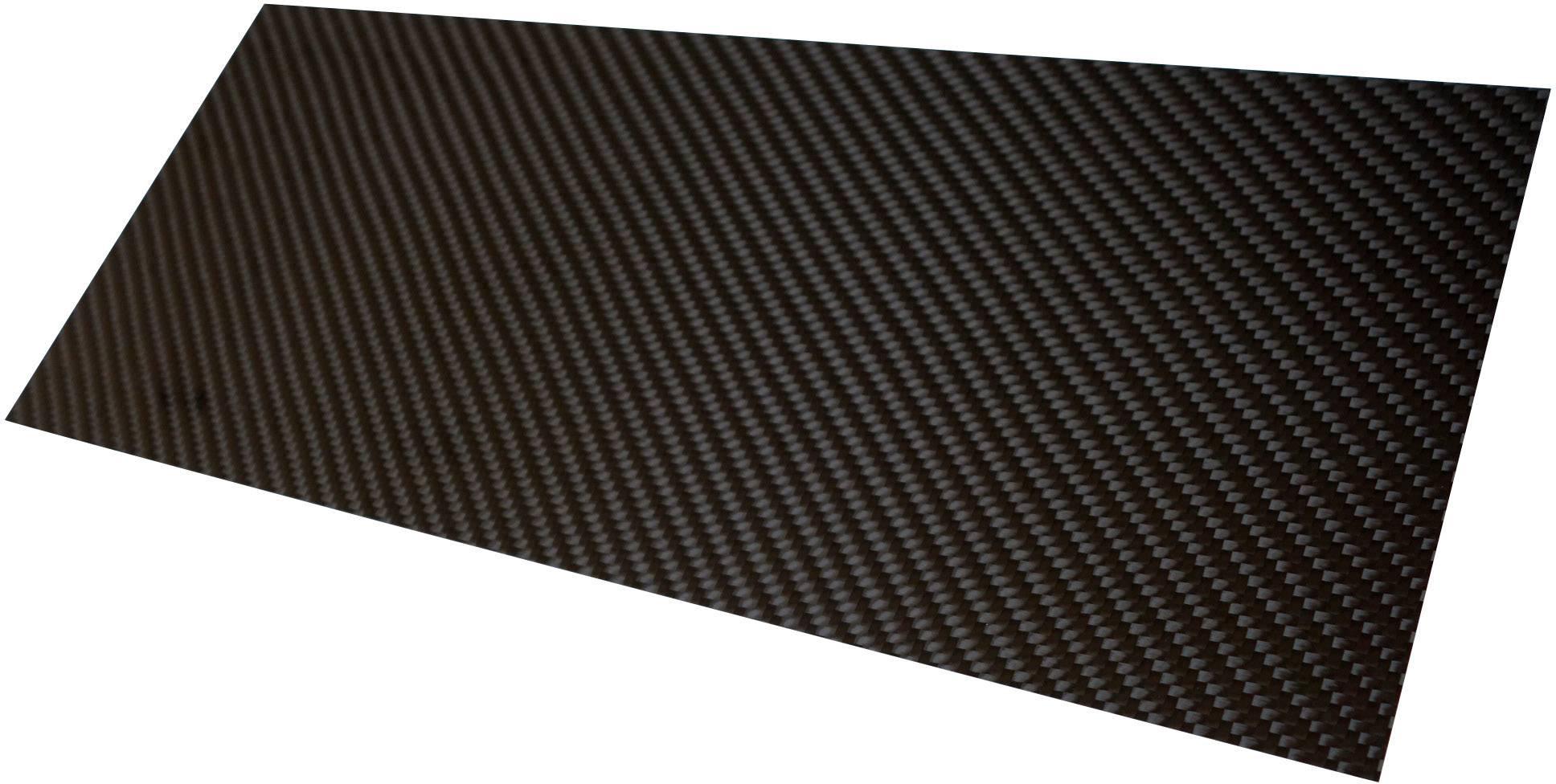 Doska z karbónových vlákien Carbotec CFK-PLATTE 3MM, (d x š) 350 mm x 150 mm x 3 mm