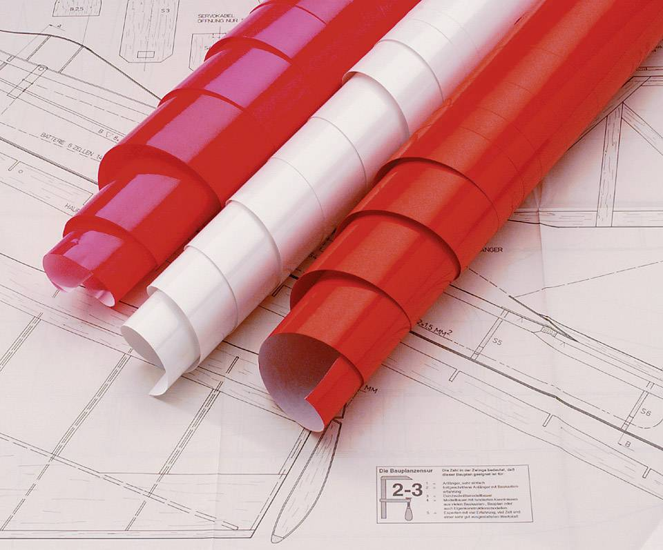 Nažehlovacia fólia Oracover 21-029-002, (d x š) 2 m x 60 cm, červená (transparentná)