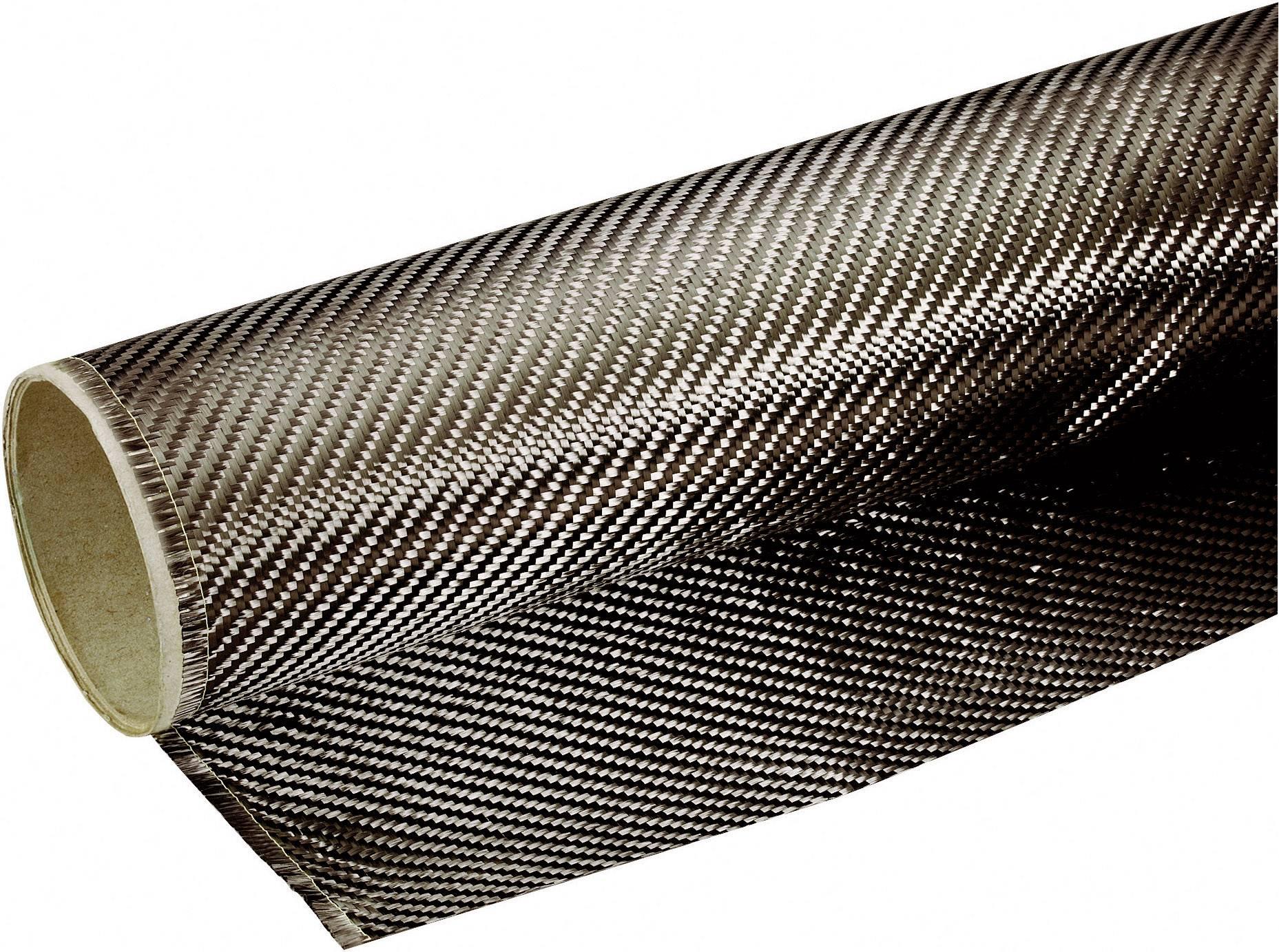 Tkanina z uhlíkových vláken Toolcraft 190, 204 g/m2, 0,5 m2, kepr