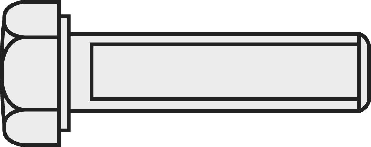 Šesťhranné skrutky TOOLCRAFT 222524, DIN 933, M3, 10 mm, mosadz, 10 ks
