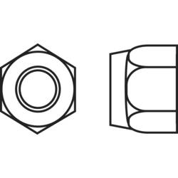 Poistné matice TOOLCRAFT 223395, M3, N/A, ocel, 10 ks