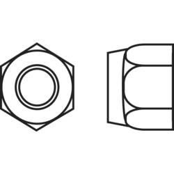 Pojistné matice Toolcraft, M4, pozinkovaná ocel, 10ks