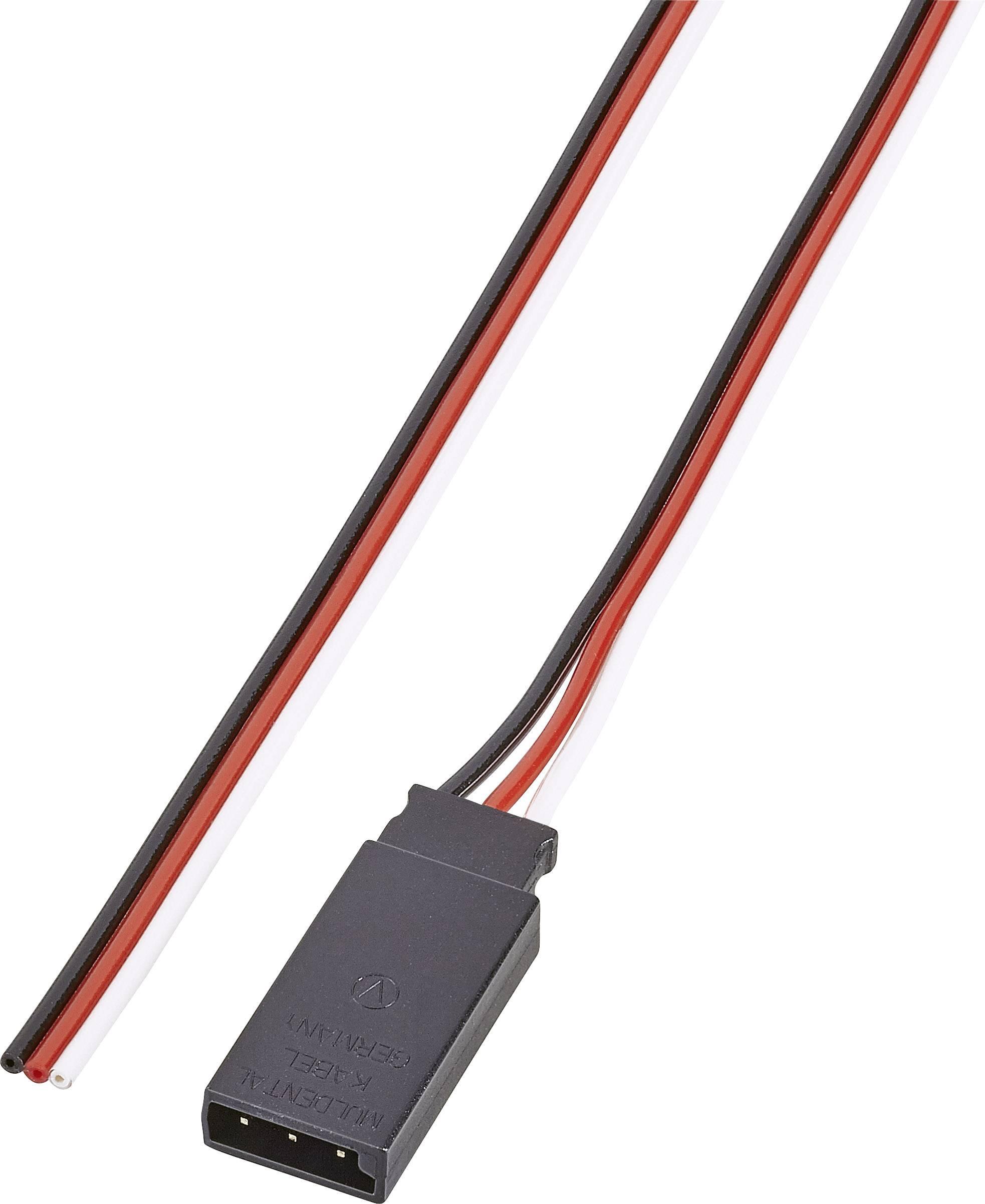 Kabel se zdířkou Futaba, Modelcraft, 0,14 mm², 300 mm