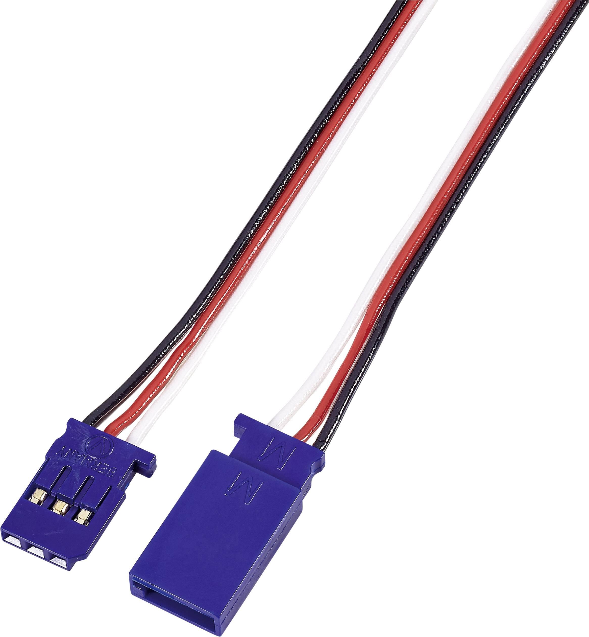 Prodlužovací kabel Modelcraft, konektor Futaba, 50 cm, 0,14 mm²