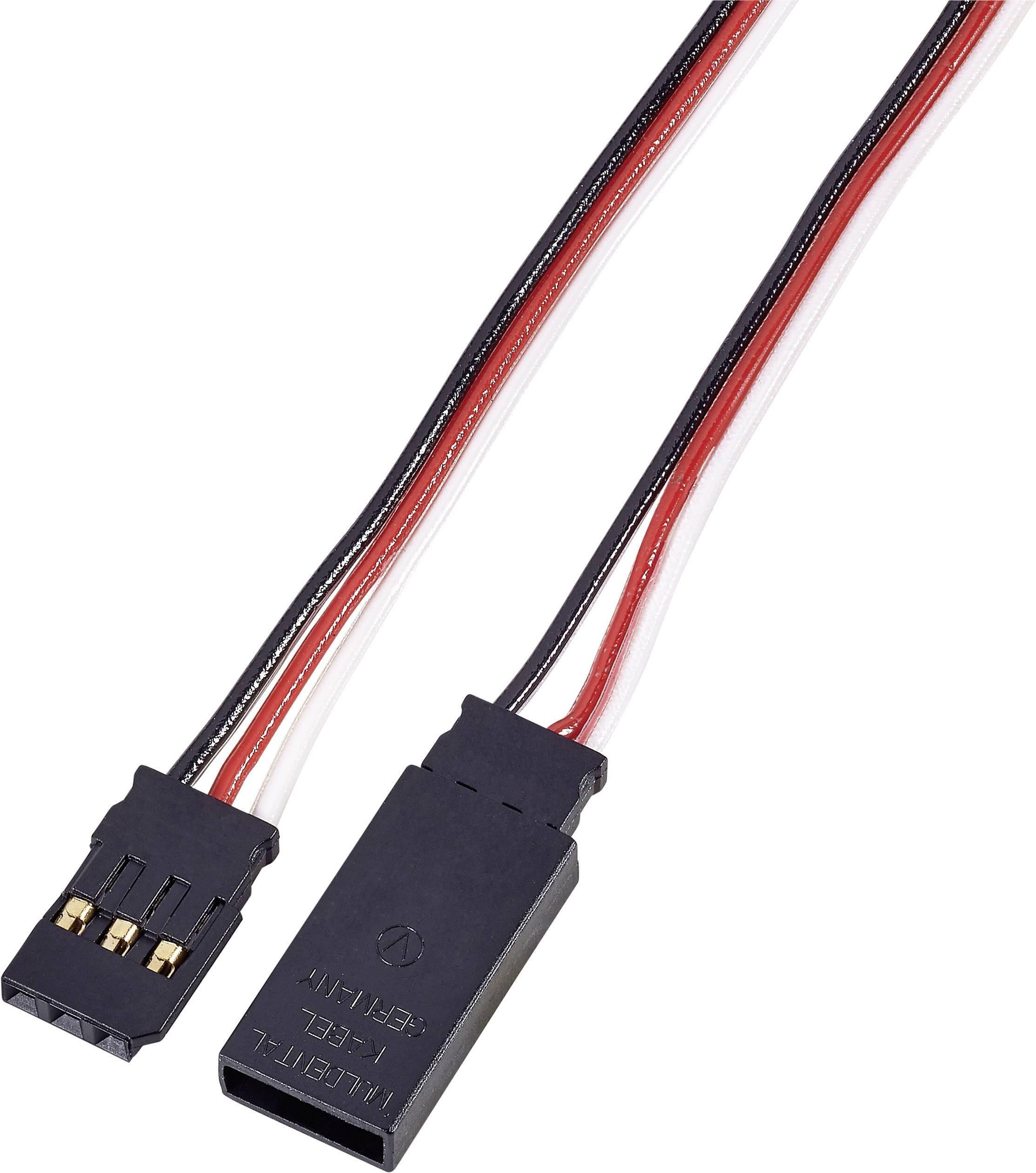 Prodlužovací kabel Modelcraft, konektor Futaba, 100 cm, 0,14 mm²