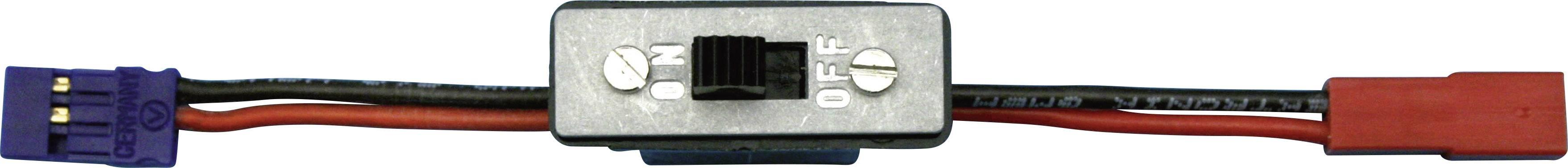 Vypínač s JR a BEC konektory Modelcraft, 0,14 mm²