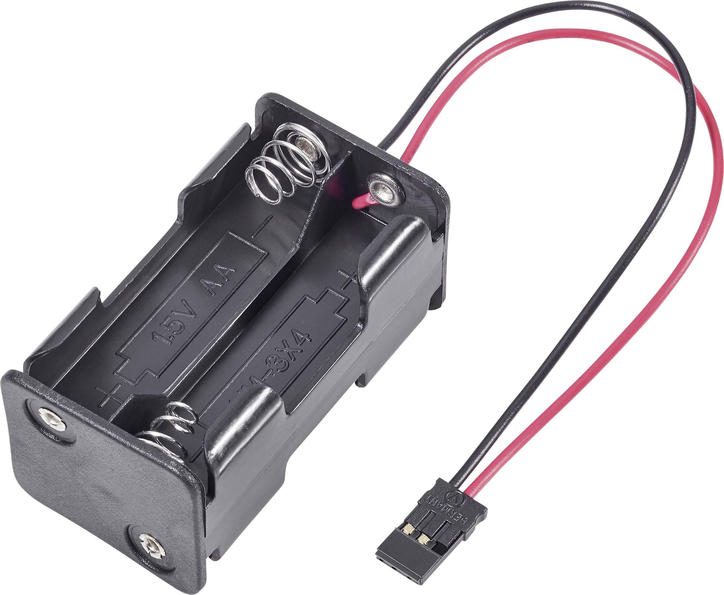 Držák baterie Modelcraft, 4x AA, JR