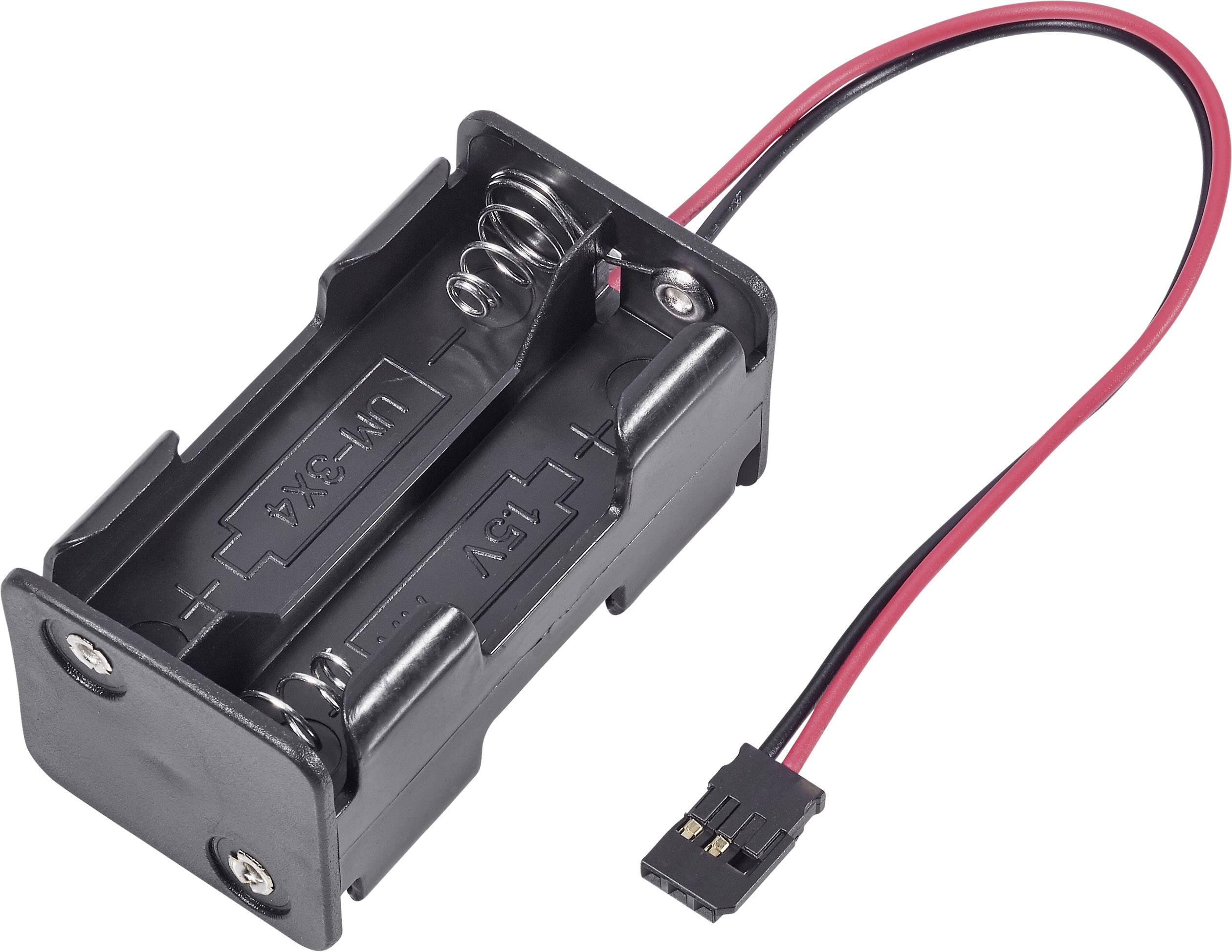 Držák baterie Modelcraft, 4x AA, Futaba