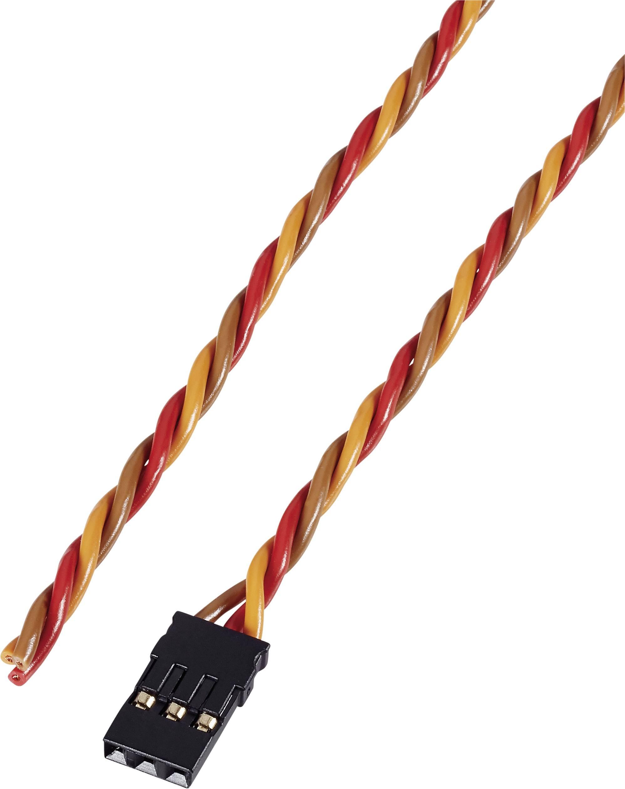 Kabel s konektorem JR, Modelcraft, 0,08 mm², 300 mm