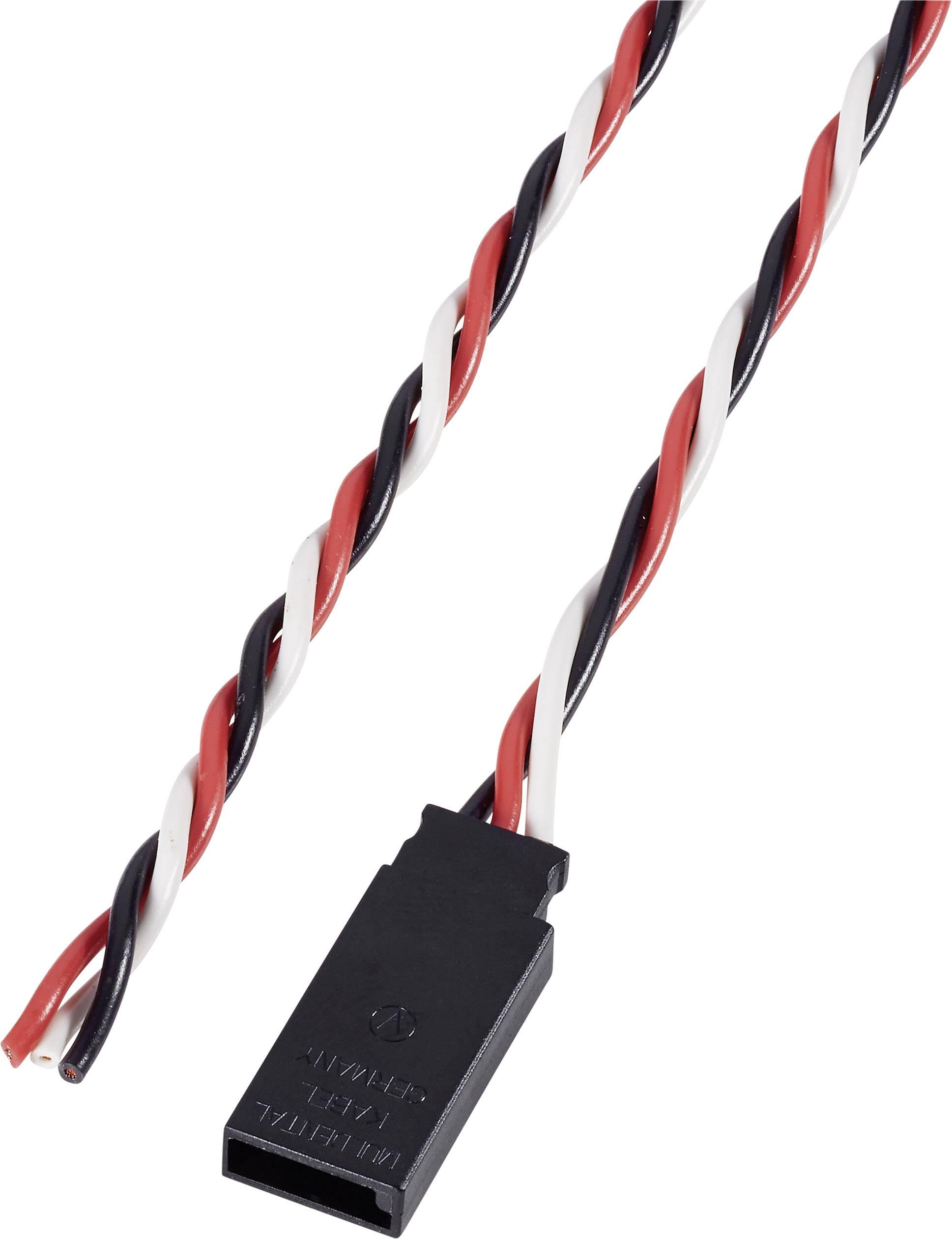 Kabel se zdířkou Futaba, Modelcraft, 0,25 mm², 300 mm