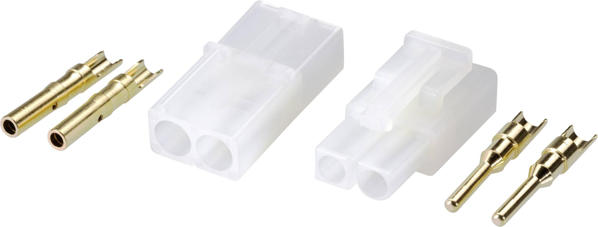 Zásuvkový konektor k prepojeniu akumulátora a regulátora RC modelu, zástrčkový konektor k prepojeniu akumulátora a regulátora RC modelu Modelcraft 224002, Tamiya, 1 pár