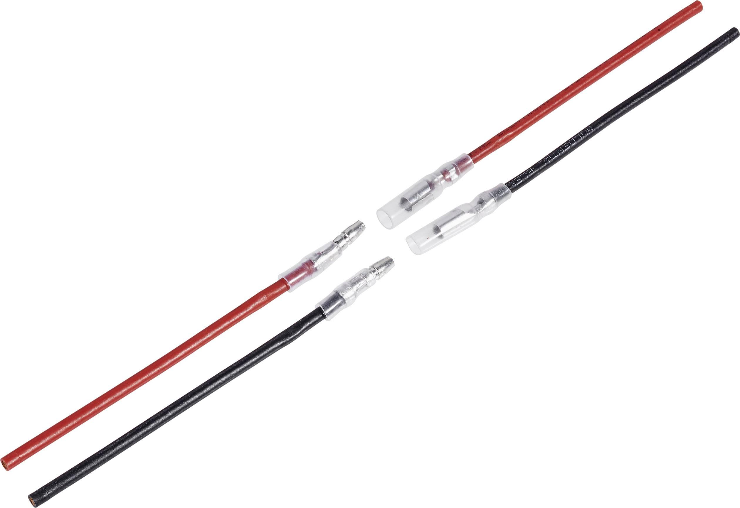 Kabel s koncovkou motoru Modelcraft, 1 pár, 2,5 mm, zástrčky a konektory
