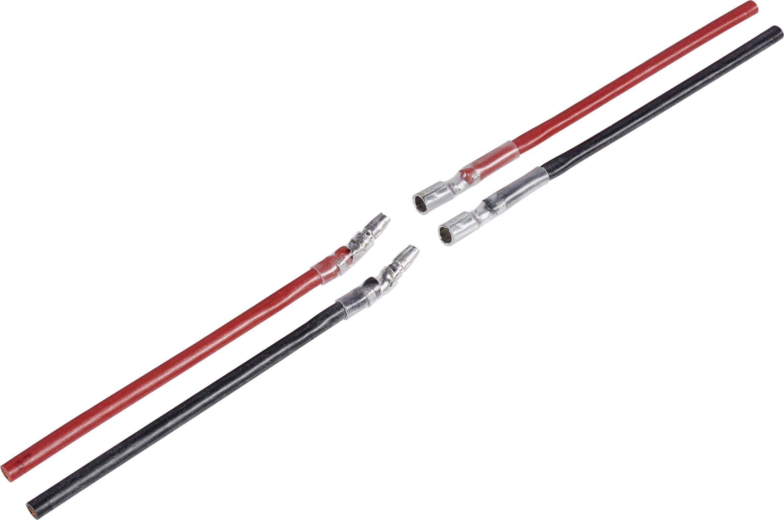 Kabel s koncovkou motoru Modelcraft, 1 pár, 4,5 mm, zástrčky a konektory