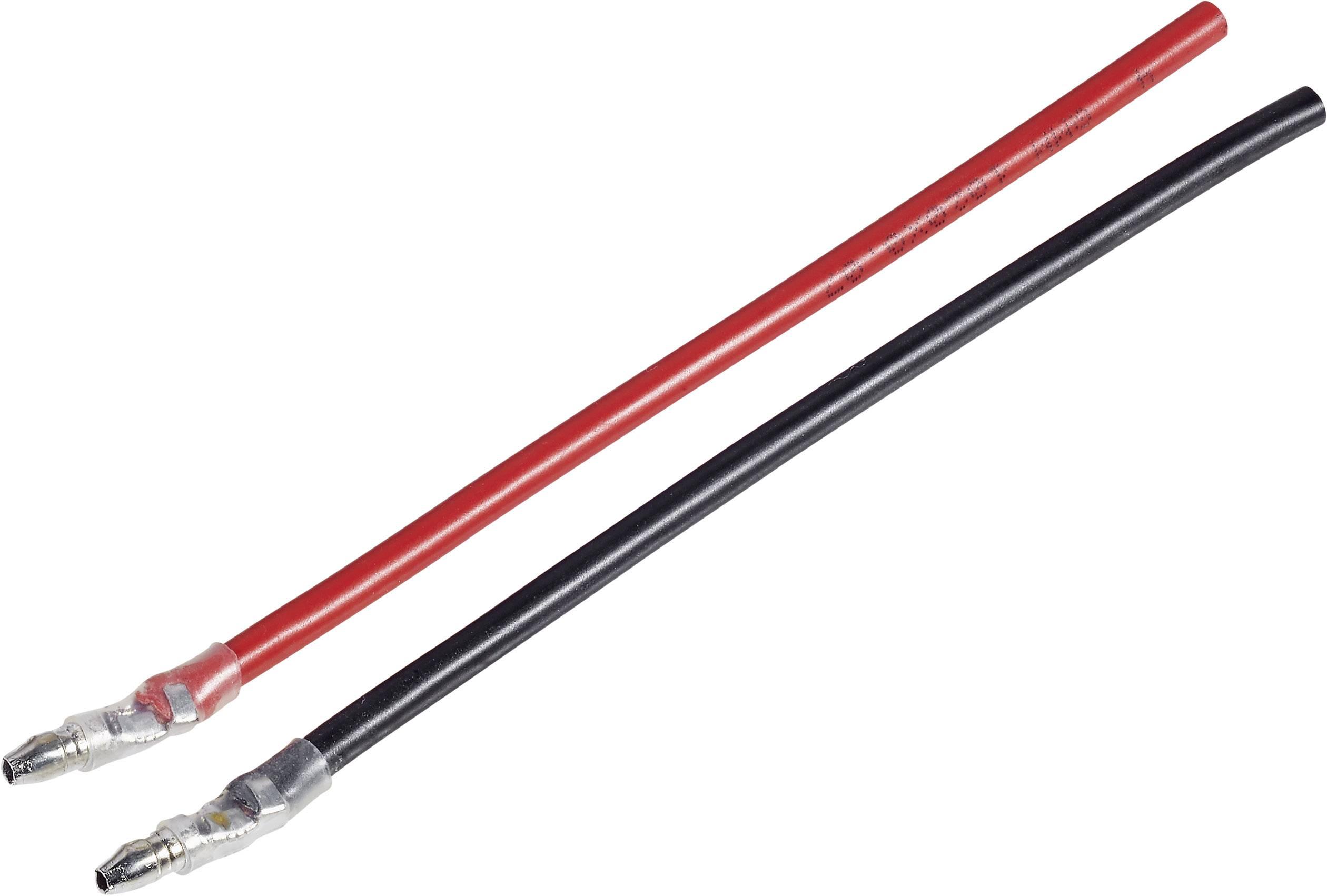 Kabel s koncovkou motoru Modelcraft, 1 pár, 4,5 mm, zástrčky