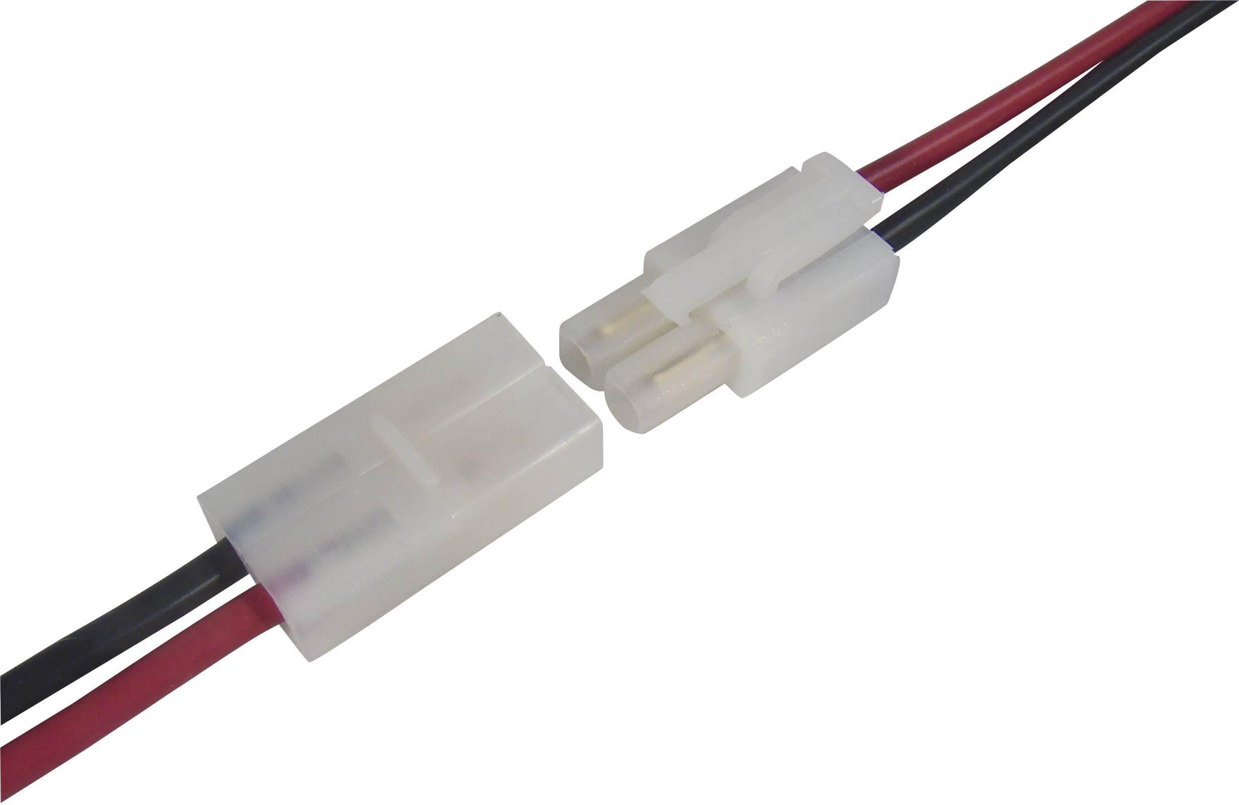 Napájecí kabel Modelcraft, Tamiya zástrčka a zásuvka, 2,5 mm², 1 pár