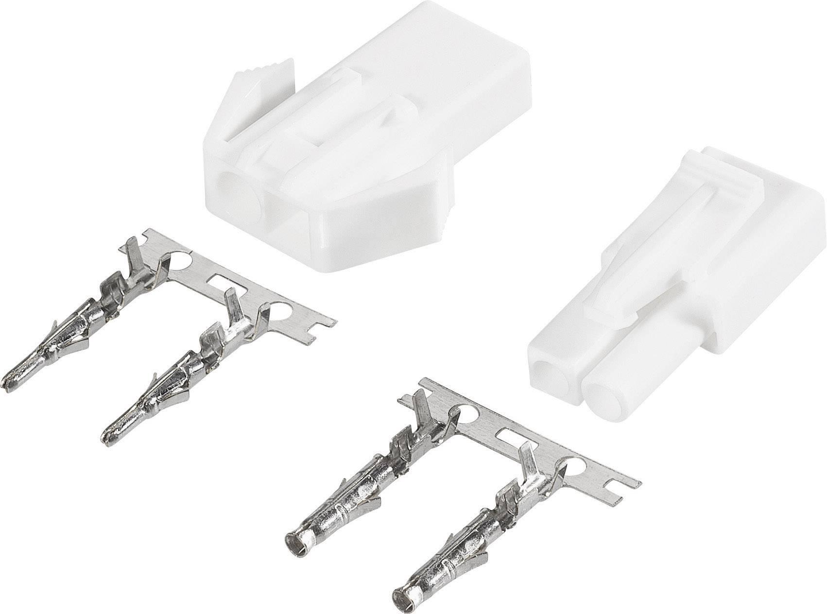 Zásuvkový konektor k prepojeniu akumulátora a regulátora RC modelu, zástrčkový konektor k prepojeniu akumulátora a regulátora RC modelu Modelcraft 227313, mini-Tamiya, 1 pár