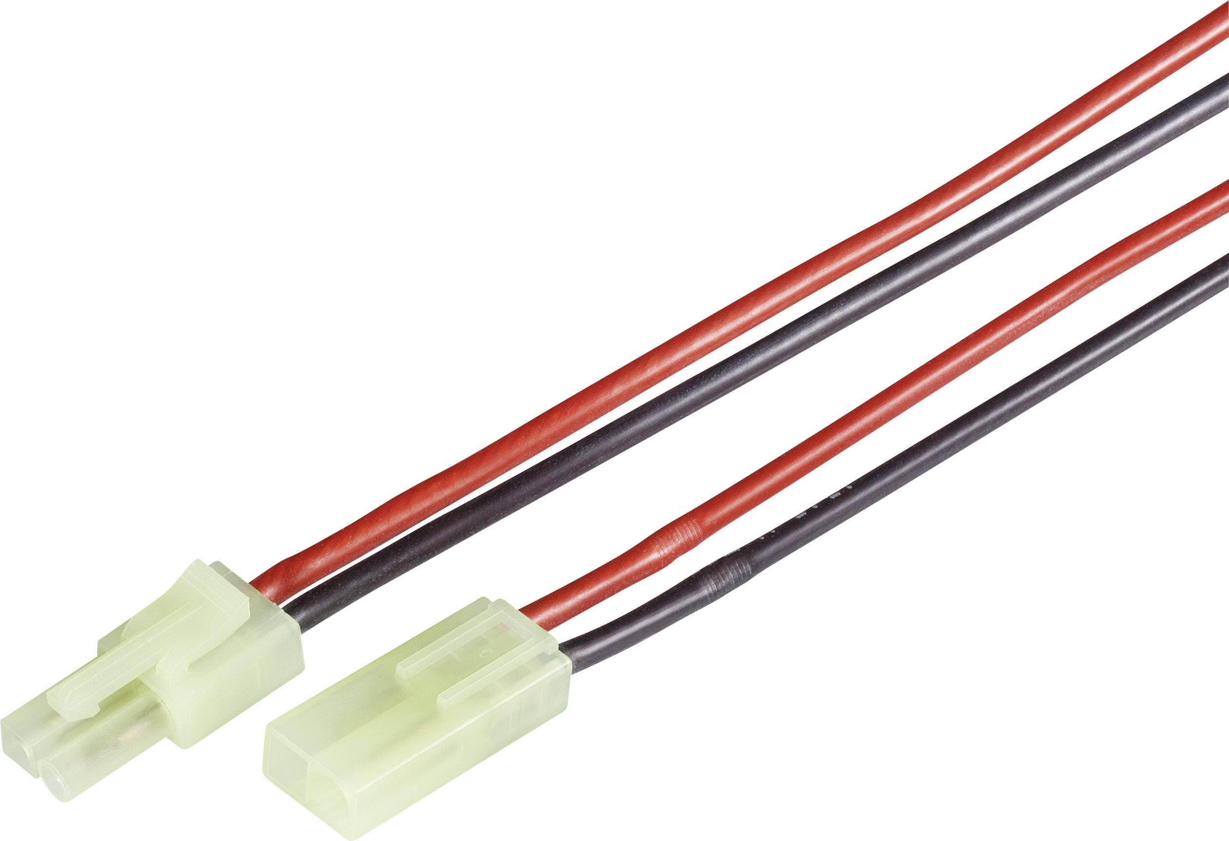 Napájecí kabel Modelcraft, Mini-Tamiya zástrčka/zásuvka, 1,5 mm², 1 pár