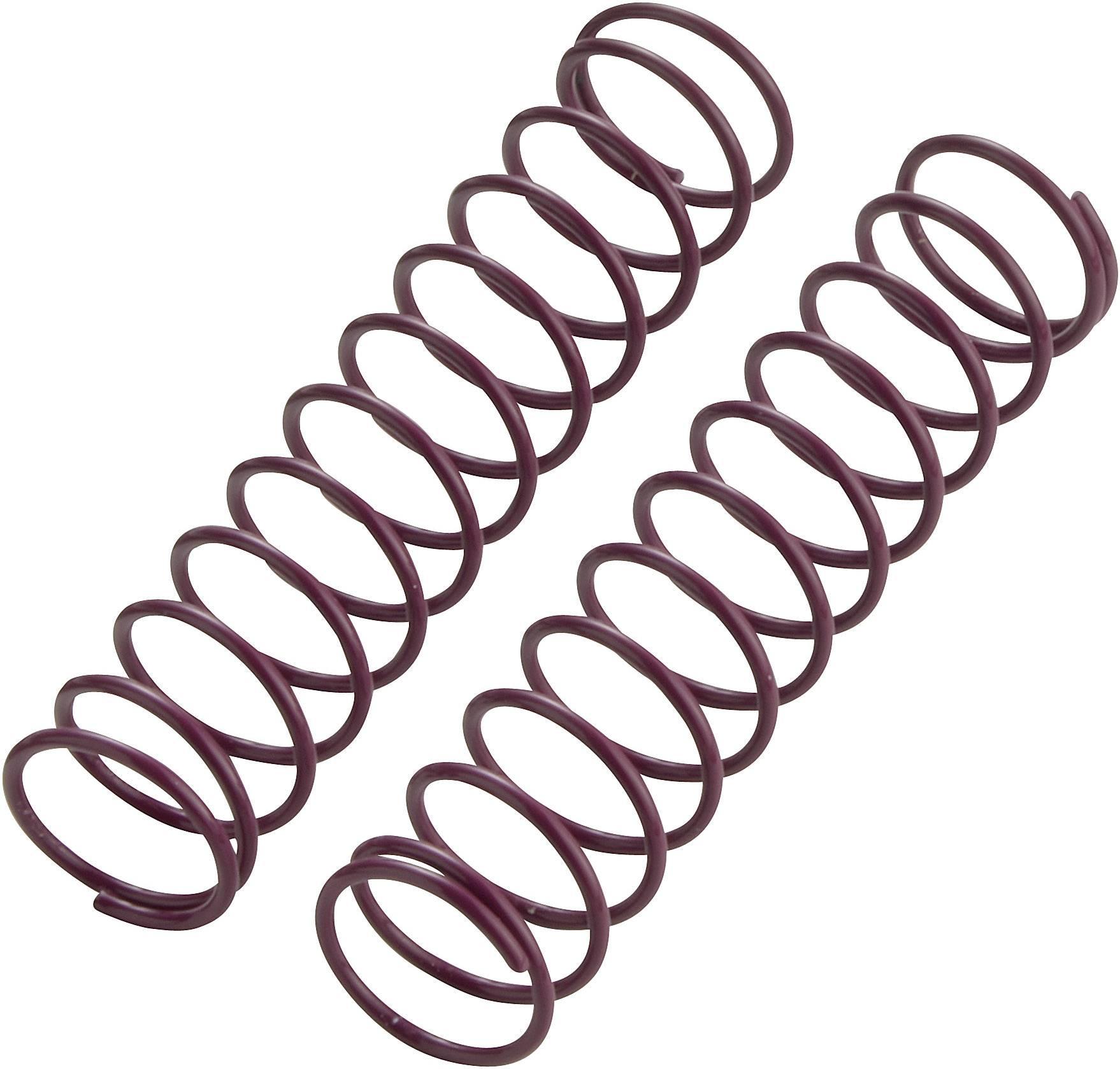 Pružina tlumiče Reely Hard, 72,5 x 1,3 mm, fialová, 1:10, 2 ks (VB11204P)
