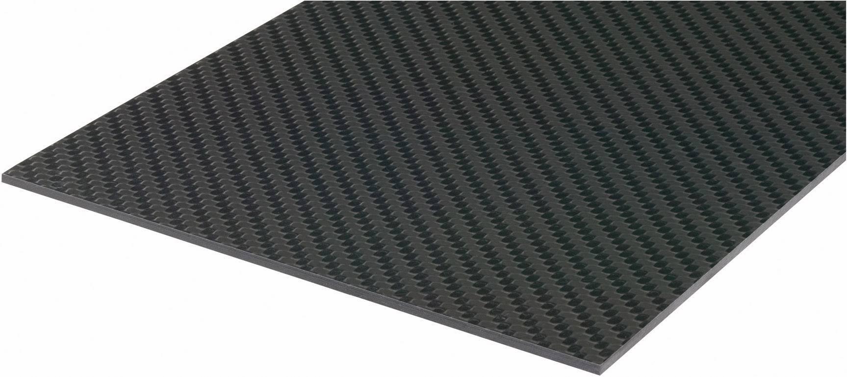 Uhlíková prepreg deska Carbotec 229916, (d x š) 340 mm x 150 mm x 1.5 mm
