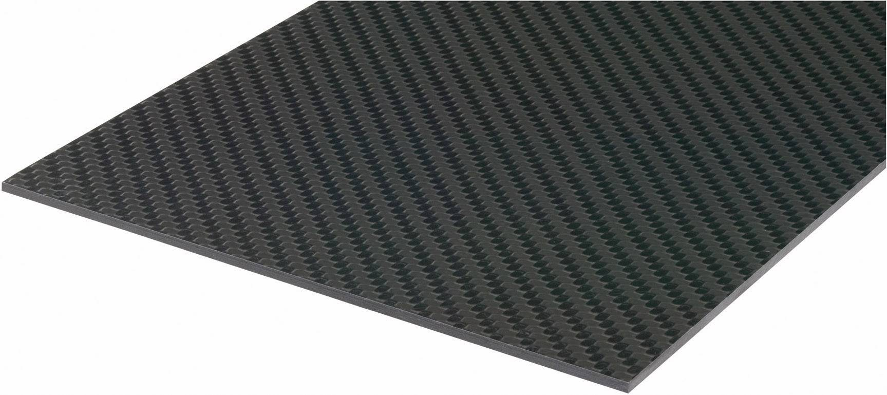 Uhlíková prepreg doska Carbotec 229915, (d x š) 340 mm x 150 mm x 1 mm