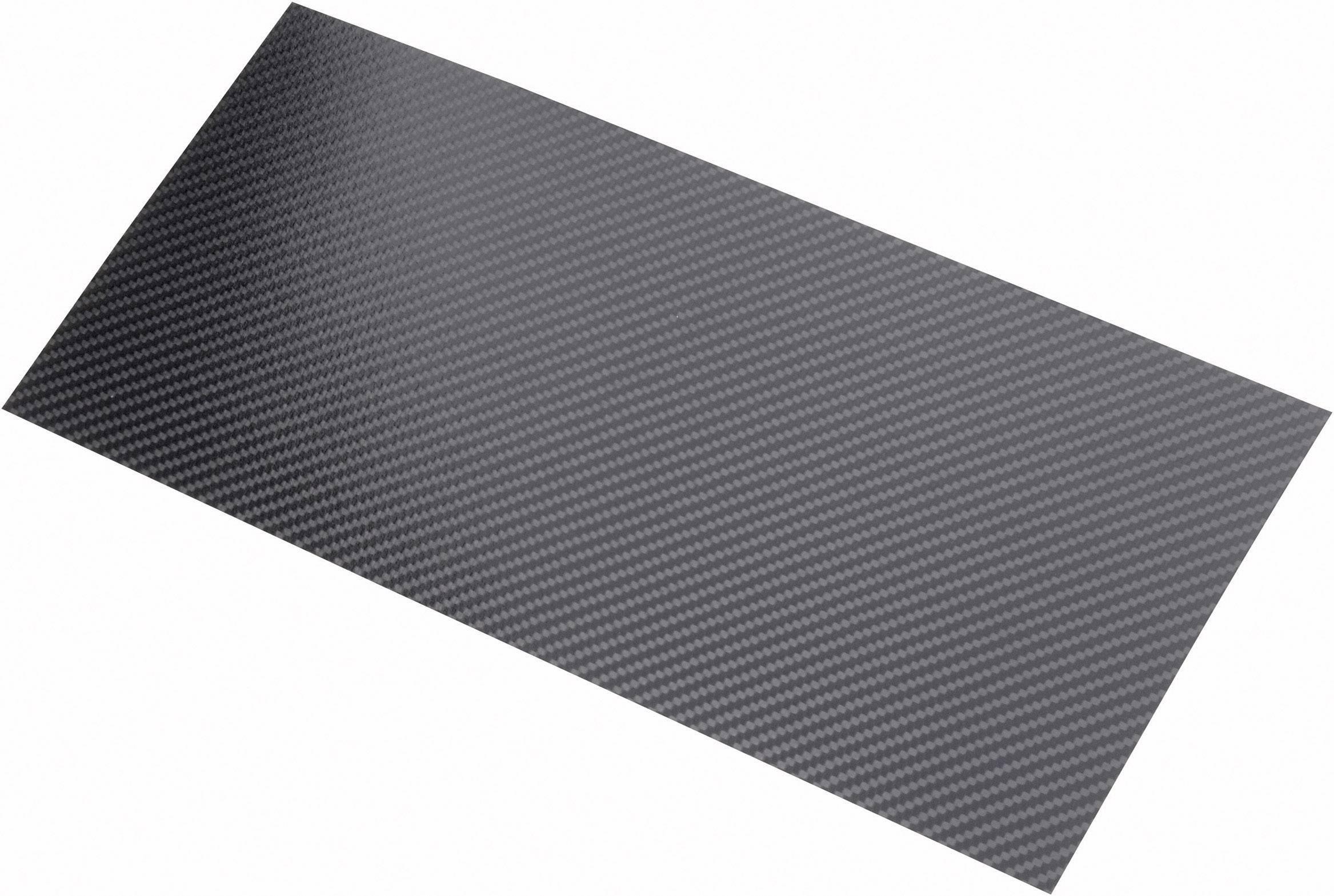 Doska z karbónových vlákien Carbotec 231664, (d x š) 340 mm x 150 mm x 0.55 mm
