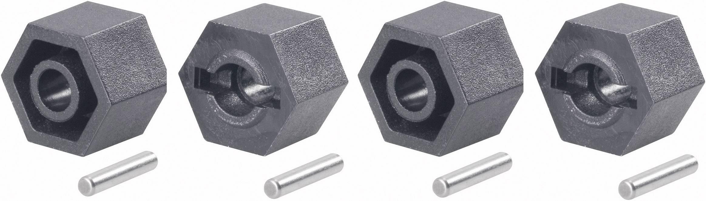 Unašeč kola 12 mm 6-hraný Reely V21071L, 1:10, 9 mm, 4 ks