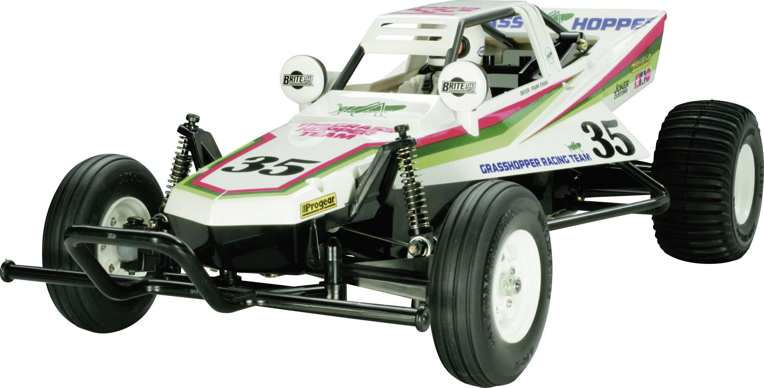 RC model auta Buggy Tamiya Grasshopper I, komutátorový, 1:10, zadní 2WD (4x2), stavebnice
