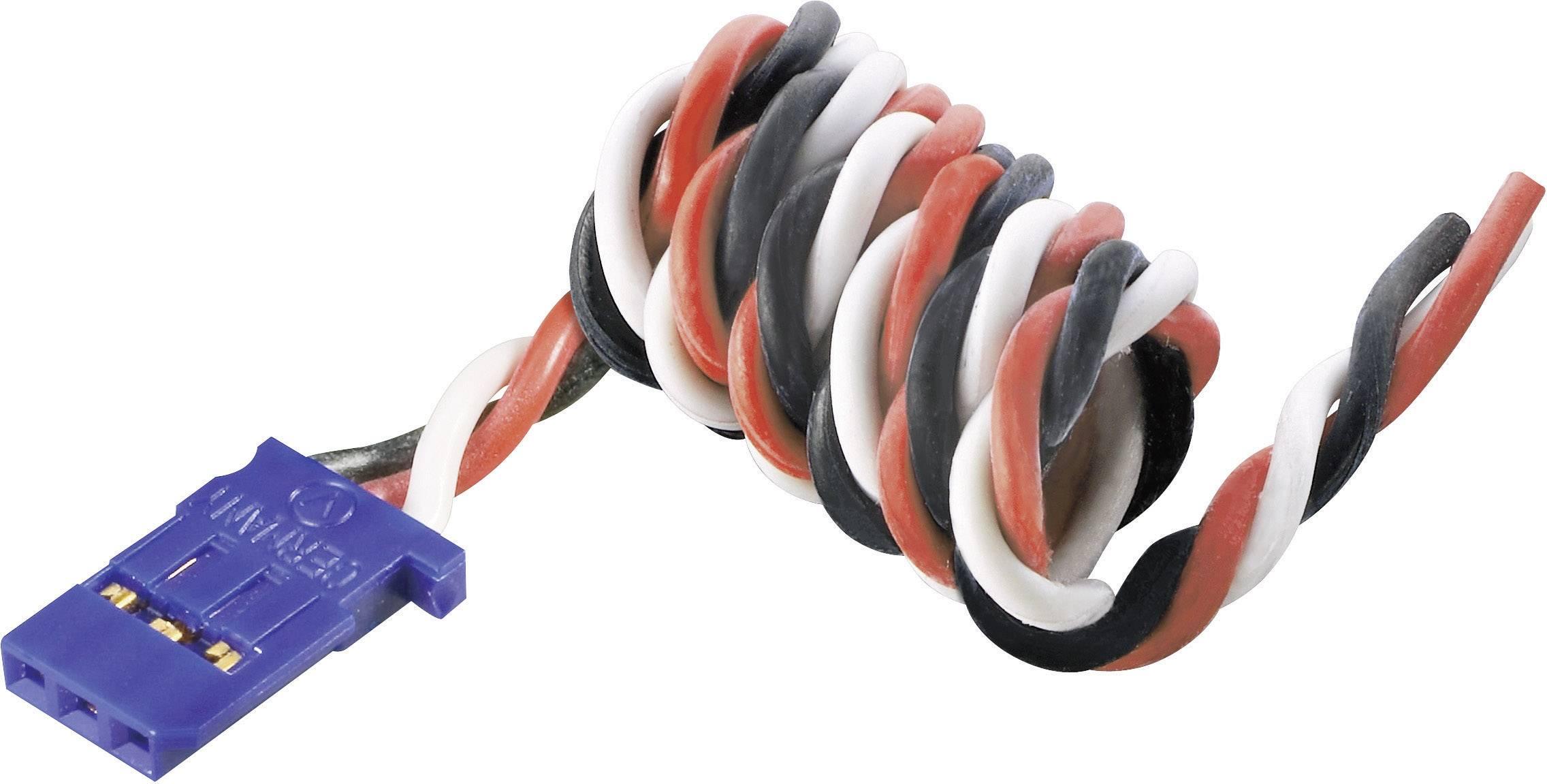 Kabel s konektorem Futaba, Modelcraft, 0,35 mm², 300 mm