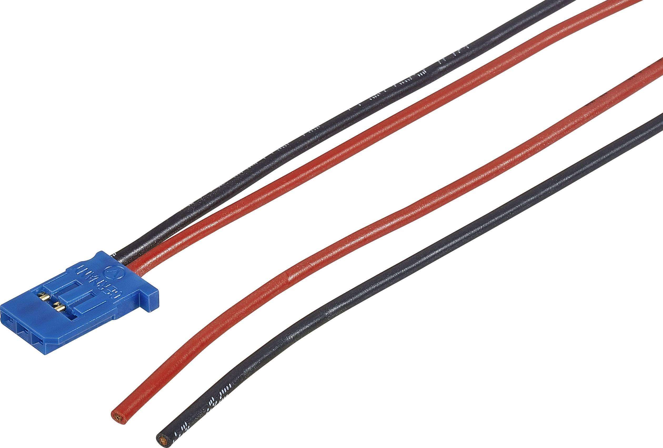 Napájecí kabel JR Modelcraft, 300 mm, 0,5 mm²