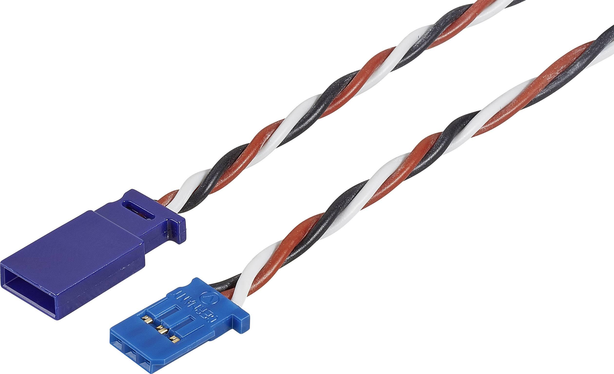 Prodlužovací kabel Modelcraft, konektor Futaba, 100 cm, 0,5 mm²