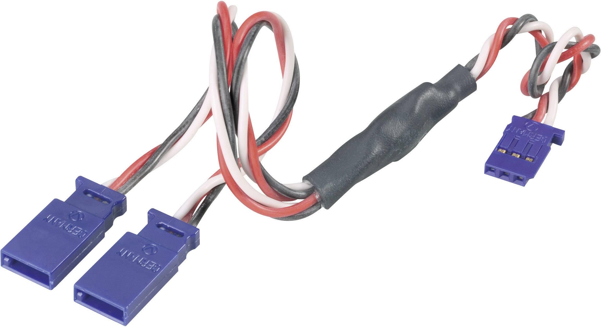 Y kabel Modelcraft, konektor Futaba, 30 cm, 0,50 mm²