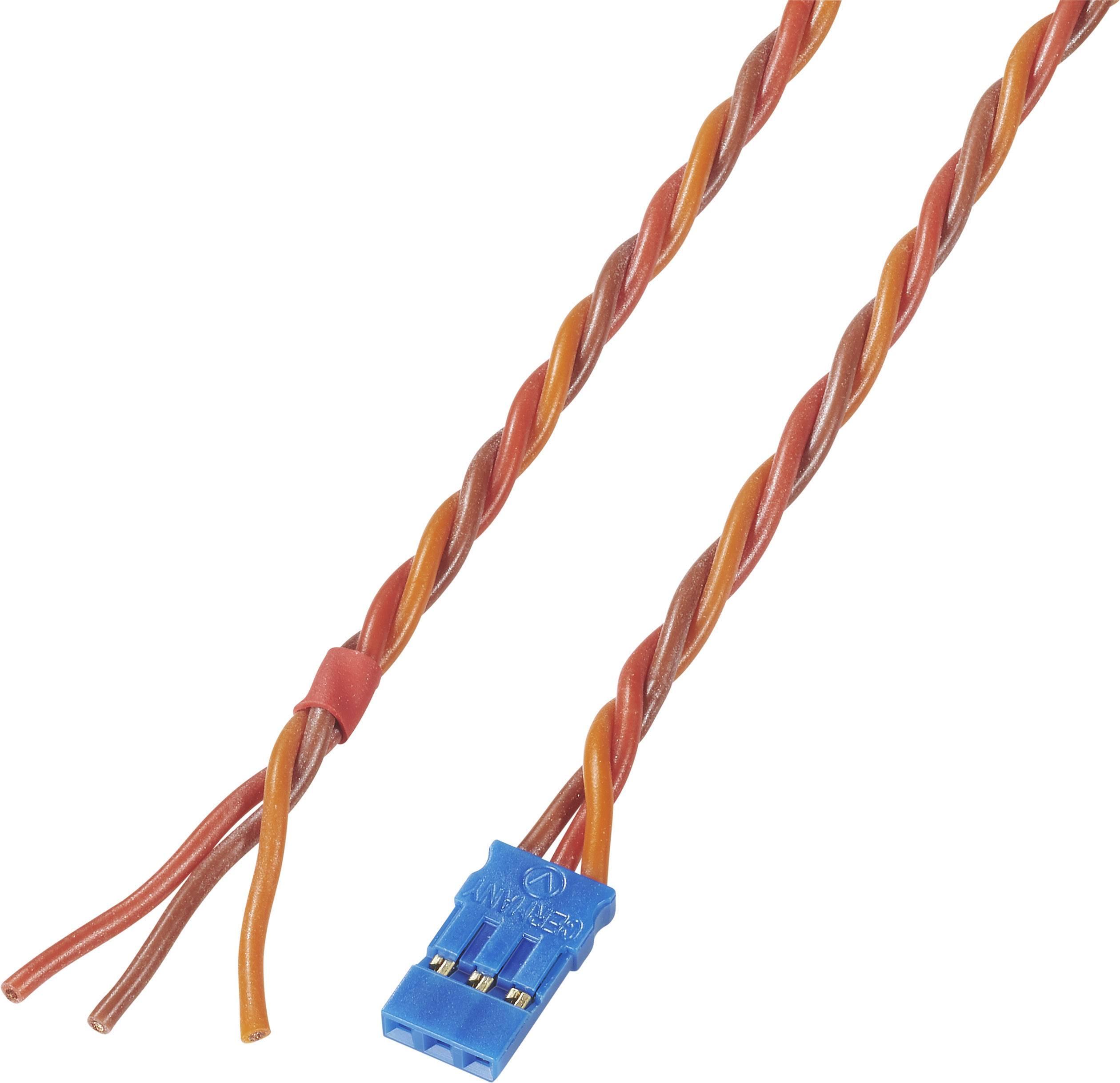 Kabel s konektorem JR, Modelcraft, 0,35 mm², 300 mm