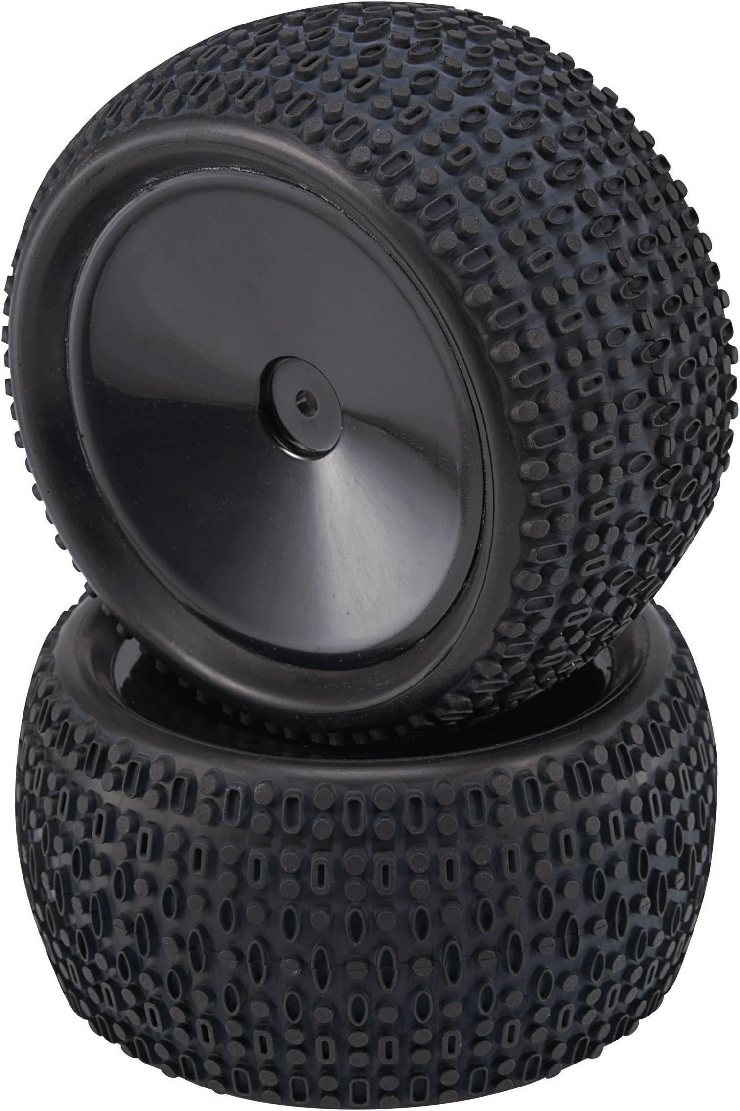 Kompletné kolesá Block-Spike Reely VA36935SBA1 pre truggy, 109 mm, 1:10, 2 ks, čierna