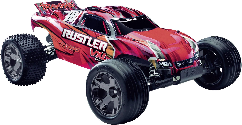 RC model auta Truggy Traxxas Rustler VXL, střídavý (Brushless), 1:10, zadní 2WD (4x2), RtR, 55 km/h