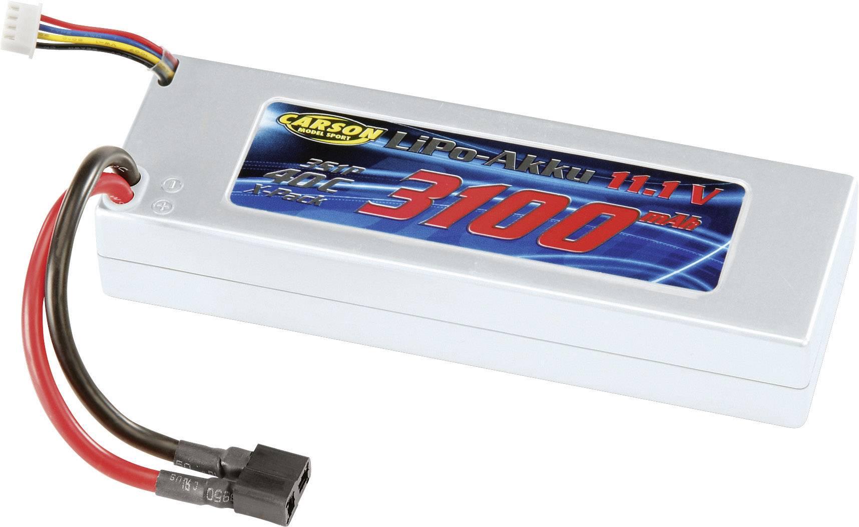 Akupack Li-Pol Carson Modellsport 608102, 11.1 V, 3100 mAh