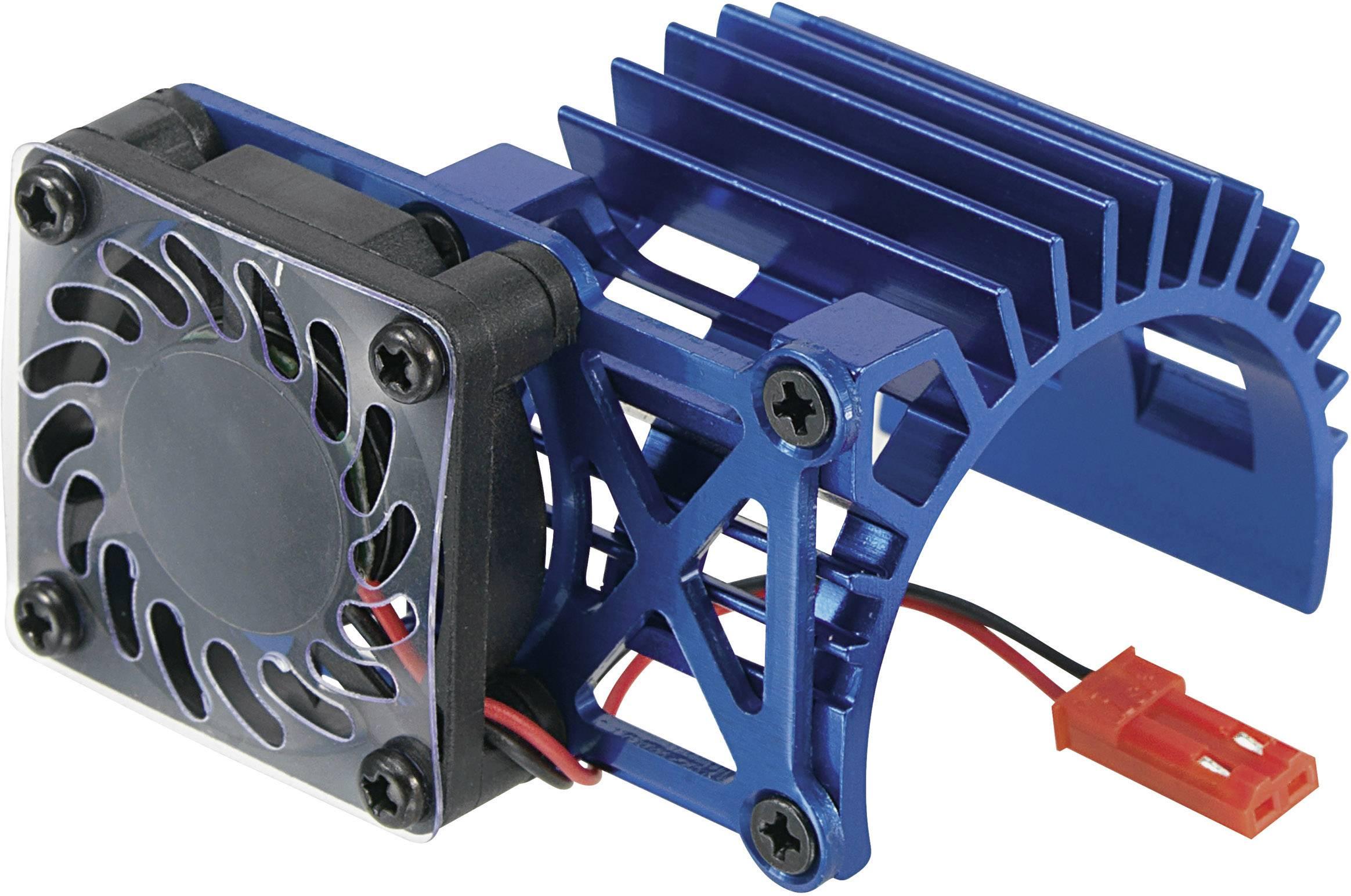 Hliníkový chladič s bočním ventilátorem Reely, pro motory 540, modrá