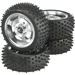 Kompletné kolesá Multipin Reely 7204 + 7103 pre buggy, 87 mm, 1:10, 4 ks, chróm