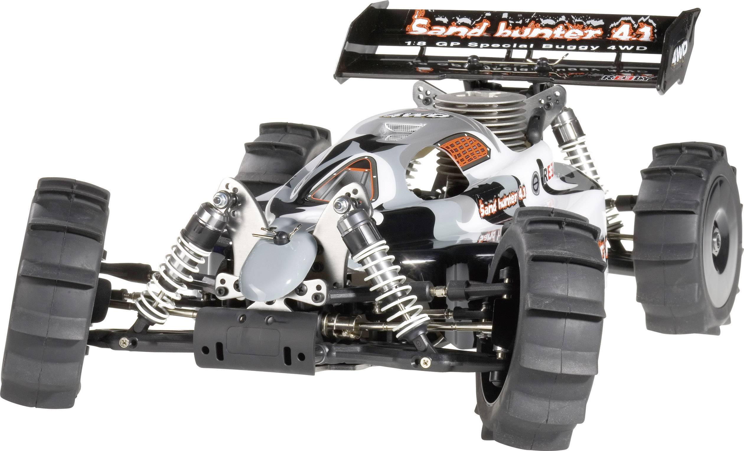Kompletné kolesá Sand Reely D08B01SBA1 pre buggy, 122 mm, 2 ks, čierna