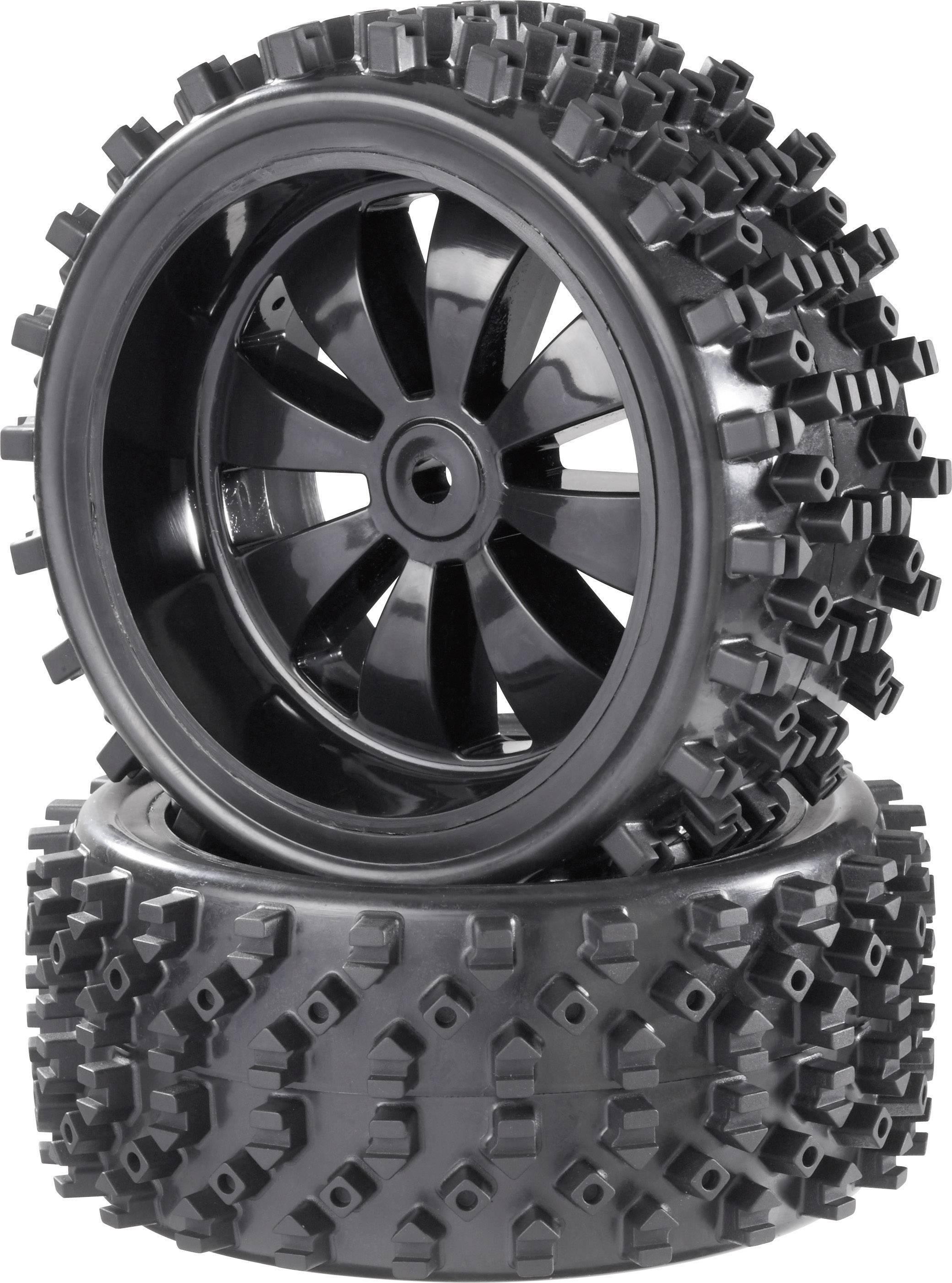 Kompletné kolesá Block-Spike Reely 112025 pre buggy, 154 mm, 1:6, 2 ks, čierna (lesklá)