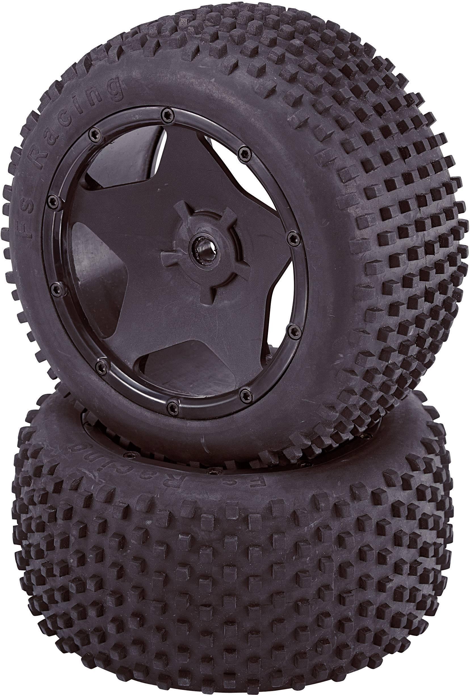 Kompletné kolesá Big Spike Reely 435c35B pre buggy, 167 mm, 1:5, 2 ks, čierna