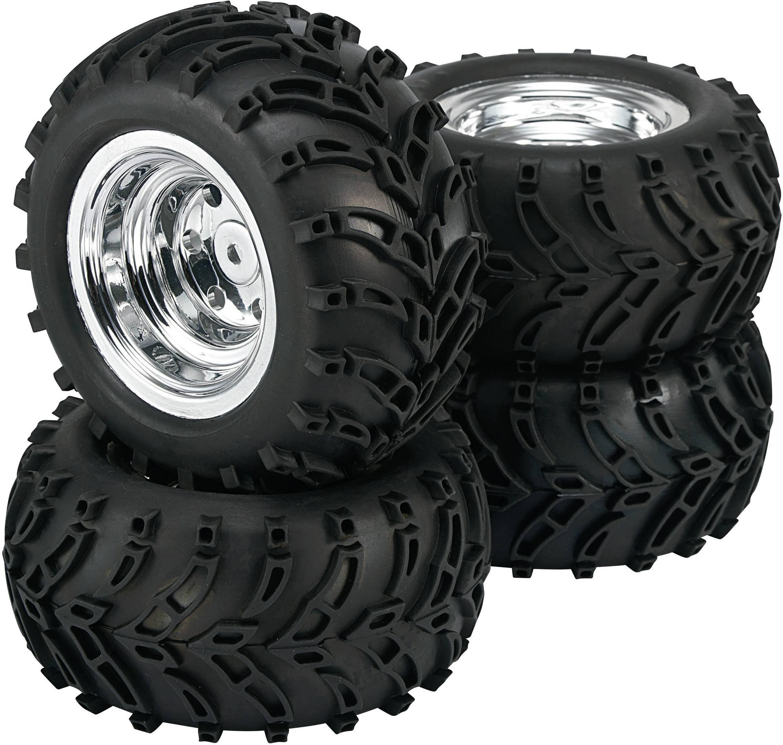 Kompletné kolesá Traktor Reely 50816C pre monster truck, 122 mm, 1:10, 4 ks, chróm